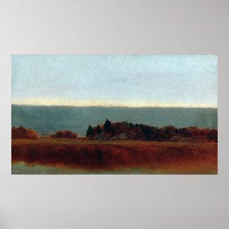 John Frederick Kensett Salt Meadow in October Poster