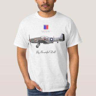 """John Lander' S P-51 """"Big Beautiful Fraud """" T-Shirt"""