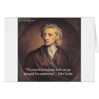 John Locke Knowledge/Experience Quote Greeting Card