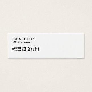 JOHN PHILLIPS MINI BUSINESS CARD