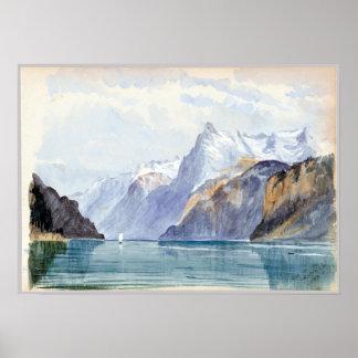 John Singer Sargent Bay of Uri, Brunnen Poster