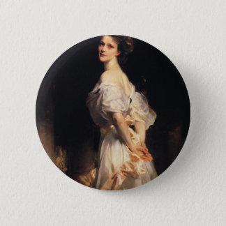 John Singer Sargent - Nancy Astor - Fine Art 6 Cm Round Badge