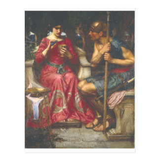 John W Waterhouse - Jason and Medea (1907) Postcard