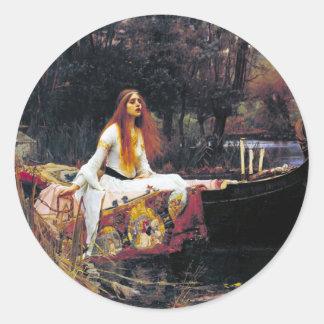 John William Waterhouse The Lady Of Shalott Classic Round Sticker