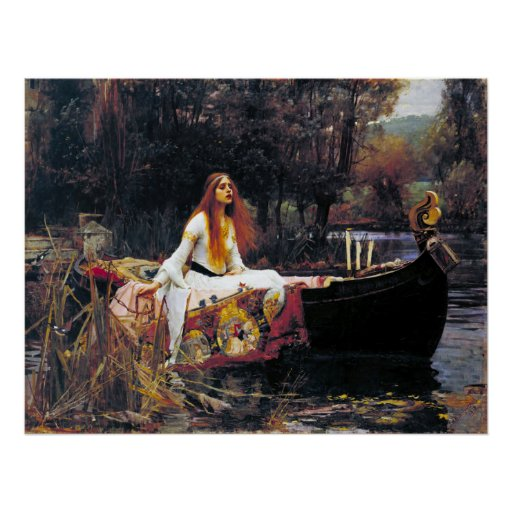 John William Waterhouse The Lady Of Shalott Posters