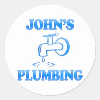 John's Plumbing Classic Round Sticker