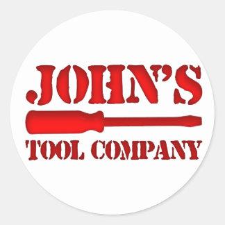 John's Tool Company Classic Round Sticker