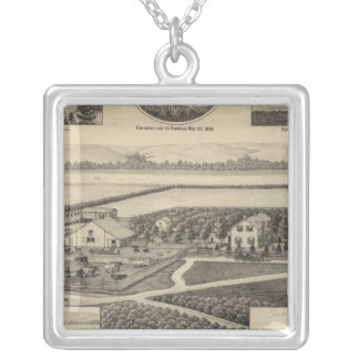 Johnson and Maxell Residences, Kansas Silver Plated Necklace