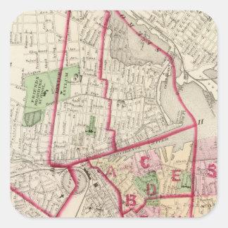 Johnston Rhode Island Map Square Sticker