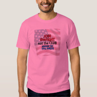 Join the Fight Not the Club Support the Tea Party Tshirts