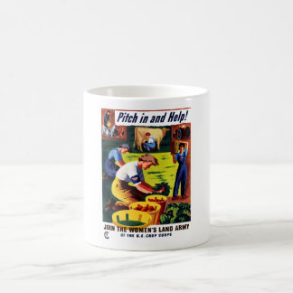Join The Women's Land Army -- WWII Coffee Mug
