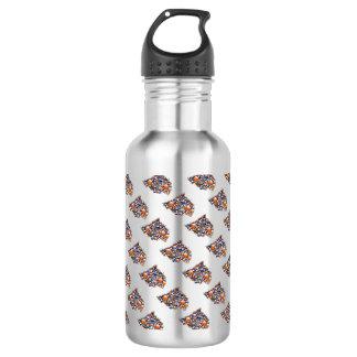 Join - water bottle colorful flying bubbles orange 532 ml water bottle