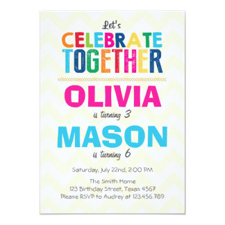 Shop Zazzle's selection of joint birthday invitations for your party!