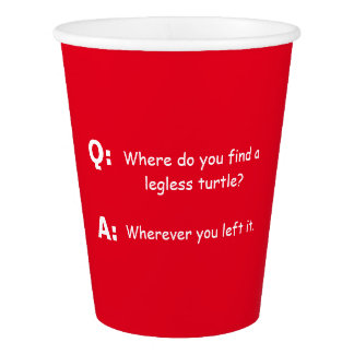 Joke Riddle Paper Cup