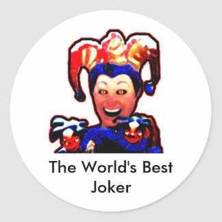 Jokers The MUSEUM Zazzle Gifts Sticker