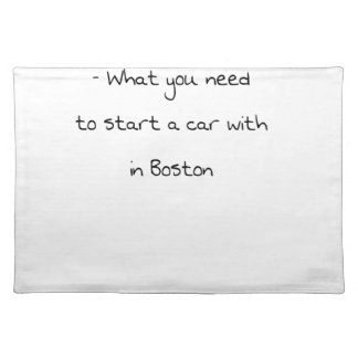 Jokes from Boston Placemat