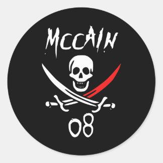 Jolly McCAIN 08 {Blood Tip} Classic Round Sticker
