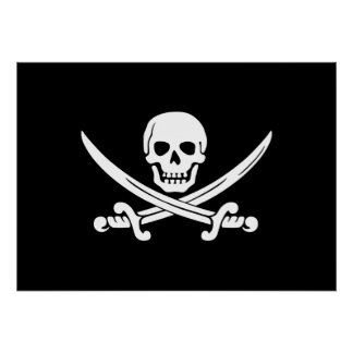Jolly Roger Pirate Flag Poster