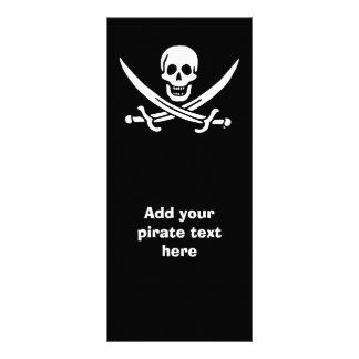 Jolly roger pirate flag rack card template