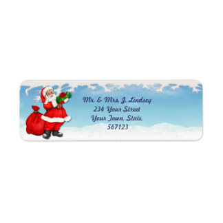 Jolly Santa Address Label