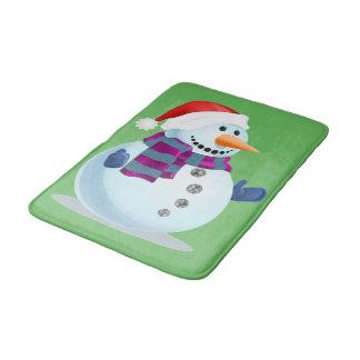 Jolly Snowman Bath Mat