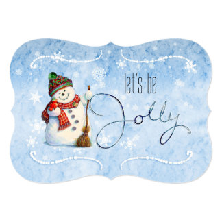 Jolly Snowman LBJa Card