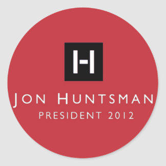 Jon Huntsman 2012 President Classic Round Sticker