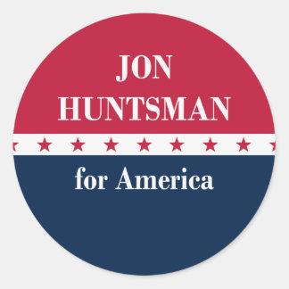 Jon Huntsman for America Classic Round Sticker