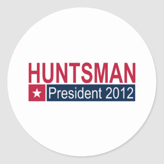 Jon Huntsman President 2012 Classic Round Sticker