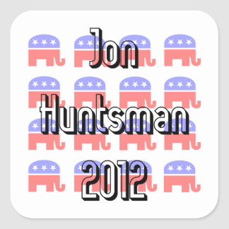 Jon Huntsman Square Sticker