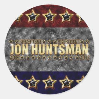 Jon Huntsman Stars and Stripes Classic Round Sticker