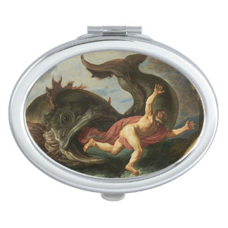 """Jonah and the Whale"" pocket mirror Travel Mirror"
