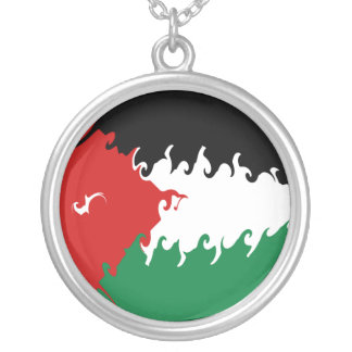 Jordan Gnarly Flag Round Pendant Necklace
