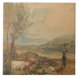 Joseph Mallord William Turner - Lulworth Castle Tile