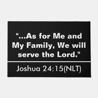 Joshua 24:15 Door Mat