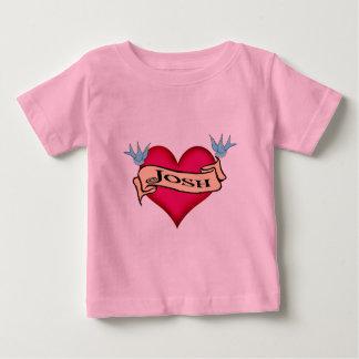 Joshua - Custom Heart Tattoo Gifts Baby T-Shirt