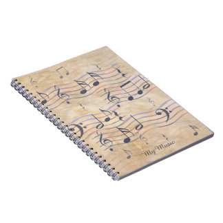 Journal Notebook with  Music Notes