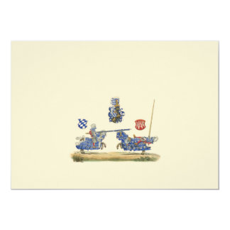 Jousting Knights - Mediaeval Theme Card