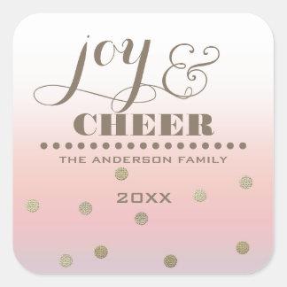 Joy & Cheer. Custom Christmas Stickers