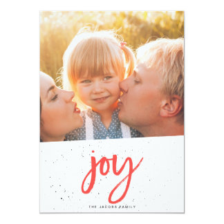 JOY christmas card [red]