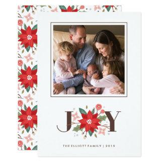 Joy Flourish Holiday Card - White