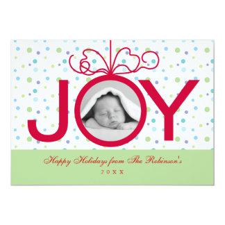 Joy Holiday Photo Card Announcements