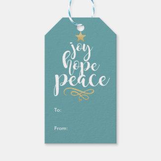 Joy, Hope and Peace Christmas Gift Tags