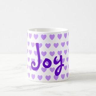 Joy in Purple Coffee Mugs