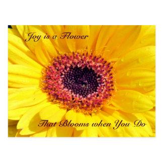 Joy is a Flower Postcard