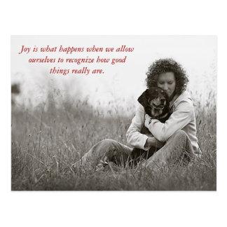 Joy is what happens when w... postcard