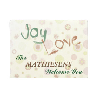Joy Love Personalized Doormat