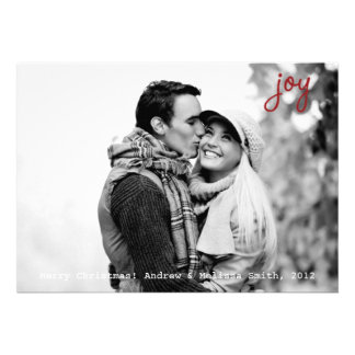 Joy Photo Holiday Card with Envelope