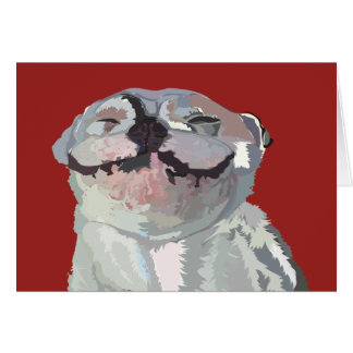"Joy, the Bulldog 5""x7"" blank card"