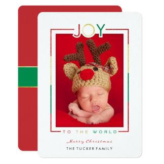 JOY to the World Christmas Photo Card Religious